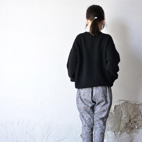 "【 eLfinFolk 20AW 】moss stitch sweater(elf-191K13)""セーター"" /  black"