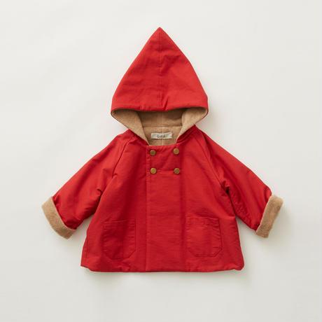 "【 eLfinFolk 21AW 】 elf coat(elf-212F44) ""コート""  / red / 110 - 130cm"