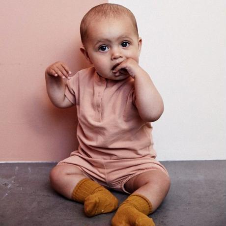 "【 GRAY LABEL 2020SS】Baby S/S Henley Tee  "" Tシャツ "" / 70-80cm / Moss"