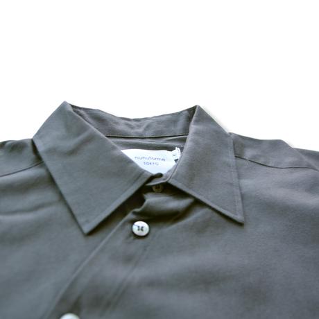 【 nunuforme 20AW 】サークルシャツ [nf14-545-012A] / Charcoal / 155 - 大人