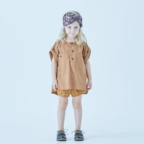 "【 eLfinFolk 21SS 】Arabian paisley jogging pants (elf-211F31)""ショートパンツ"" / orange"
