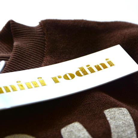 【 mini rodini 2019AW 】19720165  Stay weird sp terry sweatshirt / Brown