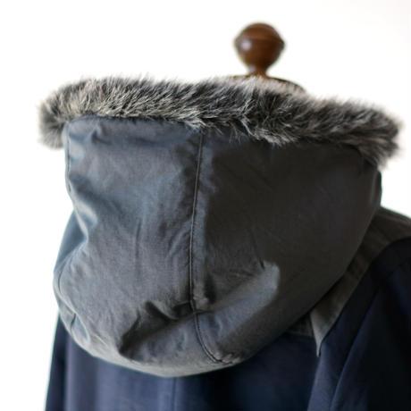 "【 eLfinFolk 20AW 】high lander coat(elf-202F50)""コート"" / navy"