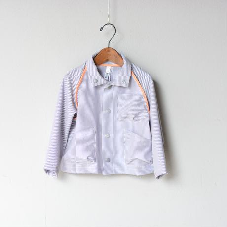 【 MOUN TEN. 2020SS 】sheersucker jacket [MT201012-b]  / stripe / 0(150-160)