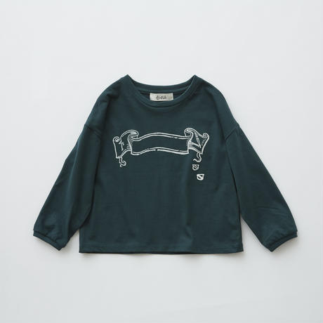 【 eLfinFolk 2019AW 】elf-192J01 flag print long sleeve-T /  green / 80 - 100cm