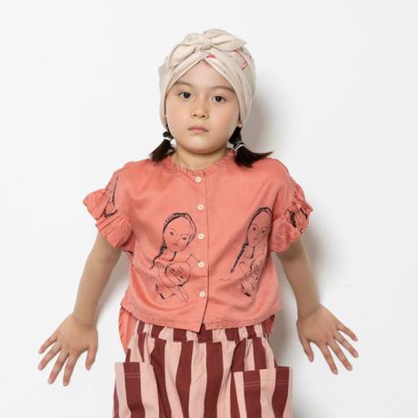 "【 folk made 21SS 】face print turban "" ターバン "" / beige /  M"