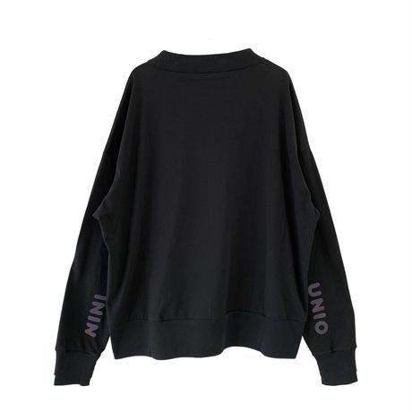 "【 UNIONINI 21AW 】reflect logo long sleeved tee / PO-021 "" ロンTee ""  / black / レディース"