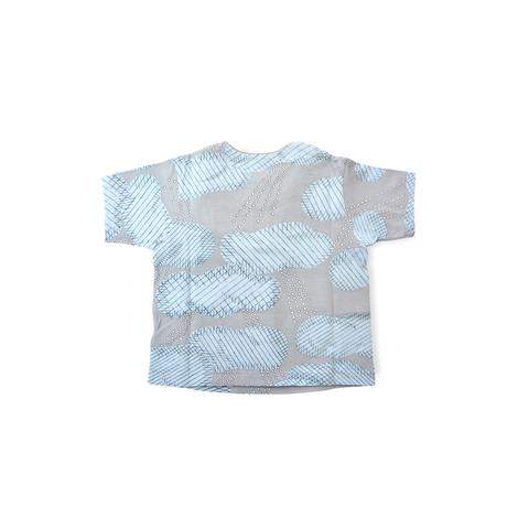 """【 ミナペルホネン 21SS 】ZS8118P after rain """" Tシャツ""""  / gray / 110-140cm"""