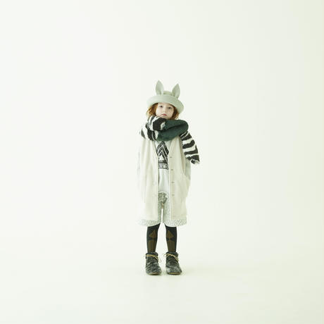 【 eLfinFolk 21AW 】 WONDER WOODS Long Tee(elf-212J15) / ash white / 140 - 150cm
