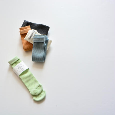 【 MOUN TEN. 2020SS 】logo tube socks [MT201020] / ミント