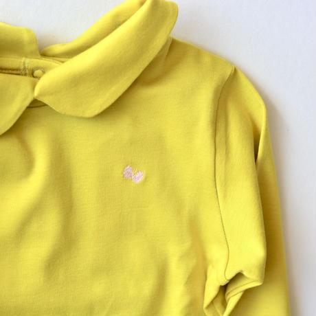 """【 ミナ ペルホネン 21AW 】ZA8150P yui """"ロンT"""" / yellow / 110-140cm"""