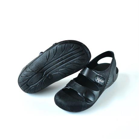 【 igor 】   BONDI SOLID /ブラック / 16.5 - 18cm