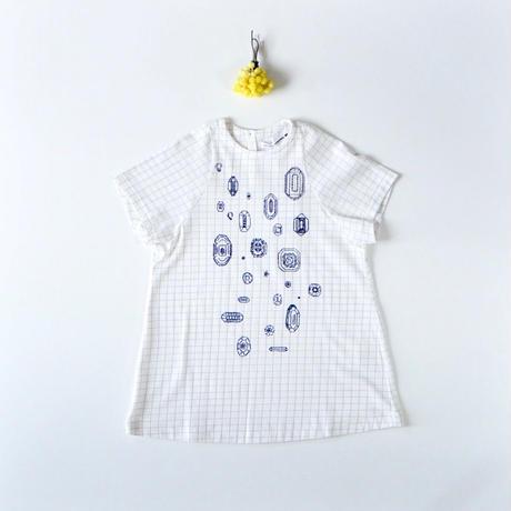 """【 ミナペルホネン 19SS 】XS8985P gemma """"ワンピース"""" / white / 110-130cm"""