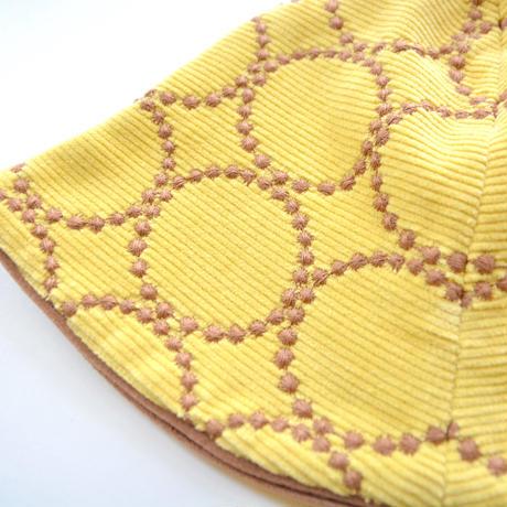 """【 ミナペルホネン 20AW 】YA7976P  tambourine  """" ハット """"  / yellow / M-L"""