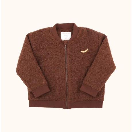 "【 tiny cottons 2018AW 】 AW18-281 ""top banana"" boucle bomber jacket / brick"