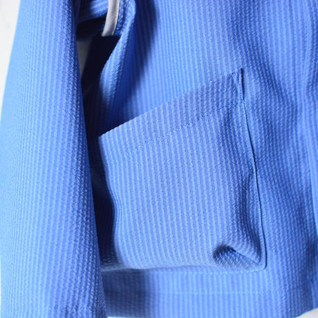 【 MOUN TEN. 2020SS 】sheersucker jacket [MT201012-c]  / blue / 1(Ladies F)