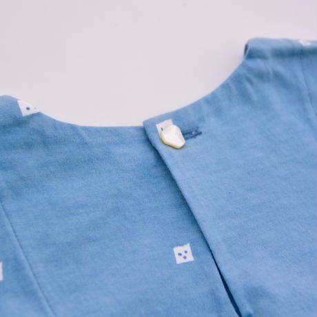 """【 ミナペルホネン 19AW 】XA8022P trois   """"ワンピース"""" / blue  / 80-100cm"""