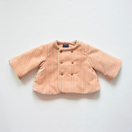 """【 ミナペルホネン 19AW 】XA6061P block    """"コート"""" / pink beige / 80-90cm"""