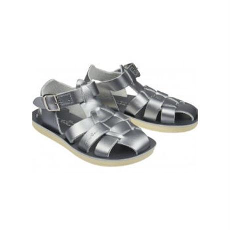 """【 Saltwater Sandals 】 海でも履けるソルトウォーターサンダル  """"Shark Premium""""  / シルバー / 13 - 16cm"""