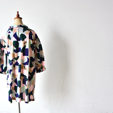 """【 ミナペルホネン 20AW 】YA8078P  foliage """" ワンピース""""  / pink mix / 90-100cm"""