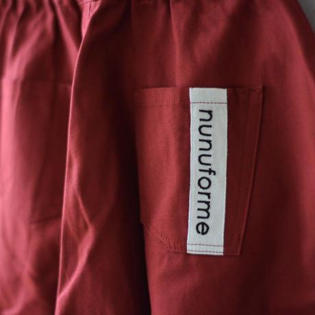 【 nunuforme 21AW 】オックスポインテッドパンツ [ns-621-005pb] / ピーカブーヤ限定カラー