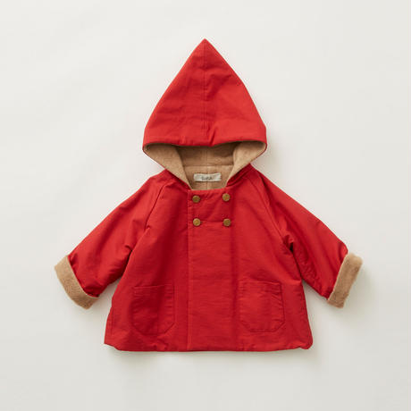 "【 eLfinFolk 21AW 】 elf coat(elf-212F43) ""コート""  / red / 90-100cm"