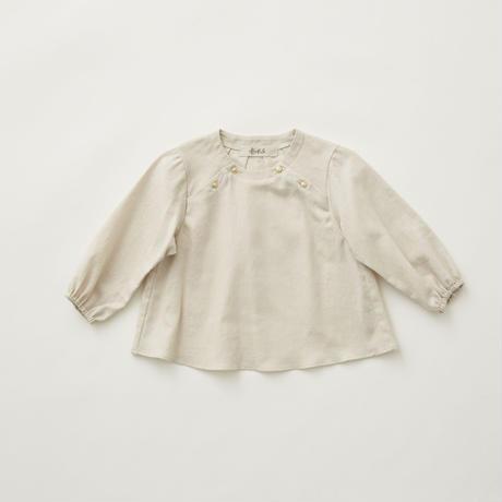 """【 eLfinFolk 21AW 】 C/L washer baby blouse(elf-212F39) """"ブラウス""""  / light beige / 90-100cm"""