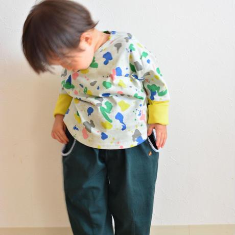 """【 ミナペルホネン 21AW 】ZA8156P smile drop """"ロンT"""" / light mix / 80-100cm"""