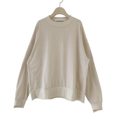 "【 UNIONINI 21AW 】reflect logo long sleeved tee / PO-021 "" ロンTee ""  / kinari / レディース"