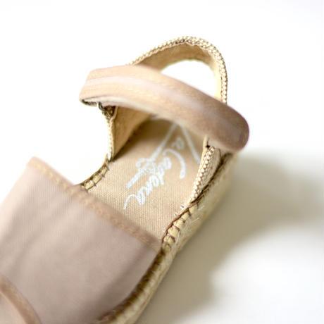 """【 La Cadena 20SS 】 VALENCIANA  HEEL SANDALS ESPADRILLES """"サンダル"""" / MILKTEA x ESPADRILLES / 16.5〜20cm"""