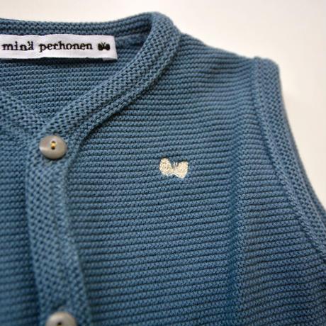 """【 ミナペルホネン 20AW 】YA8104P  makea """" ベスト""""  / blue / 80cm"""