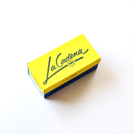 【 La Cadena 2019AW 】 GIMNASIA - Panel Slip On / NAVY x YELLOW / 23〜24.5cm