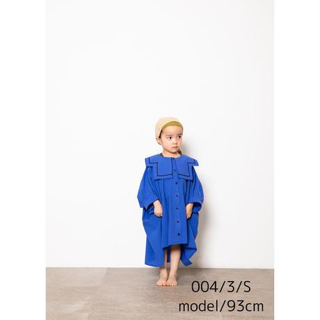 "【 folk made 21SS 】sailor collar shirts "" カラーシャツ "" / blue / L(125-140)"