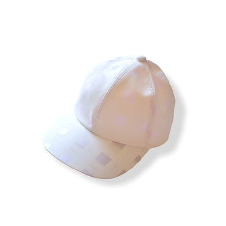 """【 franky grow 21SS 】ORIG. CHECK CAP [21SBB-228] """" キャップ """" / WHITE-PINK"""