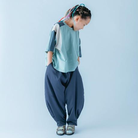 【 nunuforme 21SS 】ヘムタックカーブパンツ [15-nf15-618-129] / Bluegray / キッズ