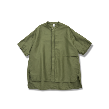 "【 MOUN TEN. 21SS 】C/L moleskin shirts [21S-MS19-0920a] ""ノーカラーシャツ"" / khaki / 95-140"