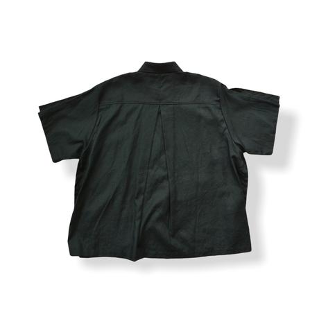 "【 UNIONINI 21SS 】BL-011 linen  big shirt  "" カラーシャツ ""  / black / 大人サイズ"