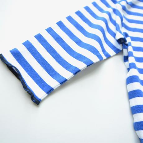 "【 franky grow 20AW 】SLANT BOA POCKET BORDER L/S TEE [20FWCS-370] ""カットソー""  / BLUE*WHITE"