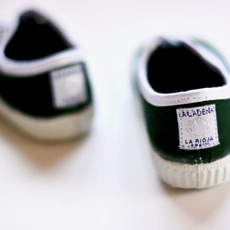 【 La Cadena 2019SS 】 INGLES ELASTICO P  - White Trim  / BOTTLE GREEN / 14〜18.5cm