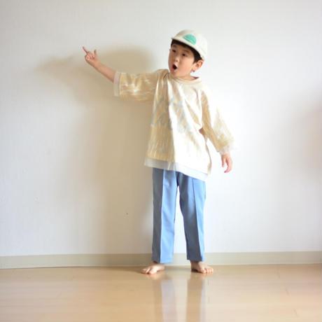 【 nunuforme x sneeuw 】コモレビプリント天竺 [nf15-817A-sn] / Beige / 155 - 大人