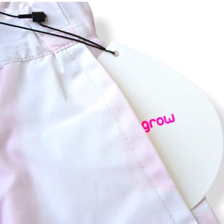 "【 franky grow 21SS 】ORIG. CHECK BIG PANTS [21SBT-235] "" パンツ "" / WHITE-PINK / LL(9〜11歳)"