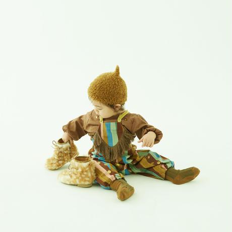 "【 eLfinFolk 21AW 】 pygmy cap (elf-555A01) ""帽子""  / brown / S,M"