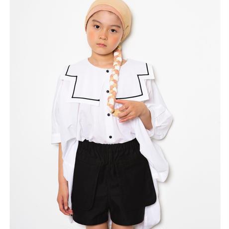 """【 folk made 21SS 】pocket short pants """" ショートパンツ """" / black / LL(140-155)"""