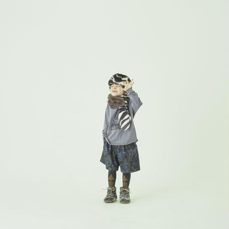 【 eLfinFolk 21AW 】 WONDER WOODS Long Tee(elf-212J14) / blue gray / 80 - 130cm