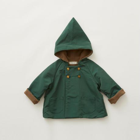 "【 eLfinFolk 21AW 】 elf coat(elf-212F43) ""コート""  / green / 90-100cm"
