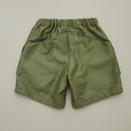 "【 MOUN TEN. 21SS 】C/L moleskin fatigue shorts [21S-MP51-0921b] ""パンツ"" / khaki /  0(150-160)"