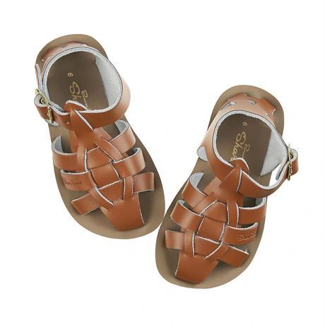 """【 Saltwater Sandals 】 海でも履けるソルトウォーターサンダル  """"Shark""""  / タン / 13 - 16cm"""