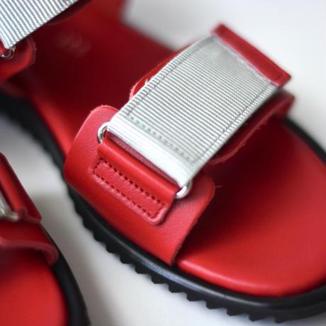 "【 NINOS 】WP Sandal(NTC021 ) "" 海水OK!レザーサンダル "" / GRIS別注カラー RED / 17 - 21cm"