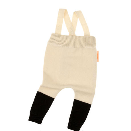 【tiny cottons 2017AW】AW17-181 color block baby pant / beige / black