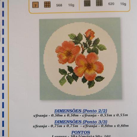 アライオロス刺繍図案 Clássicos de Arraiolos No.62